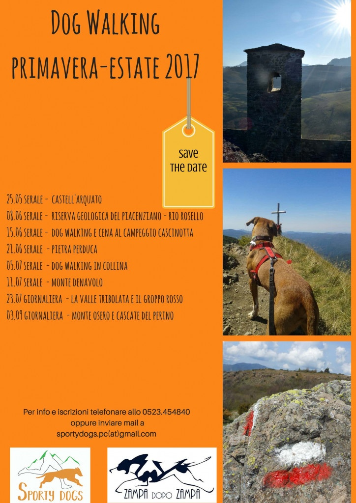 calendario locandina dog walking Piacenza
