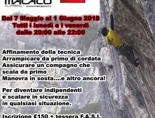 Corso avanzato di arrampicata 2018